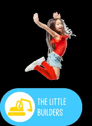 petite fille en train de sauter