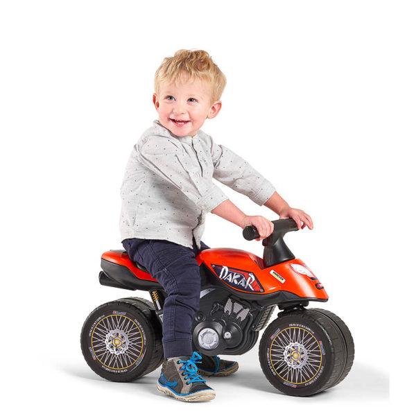 Child playing with Dakar 406D Balance Bike