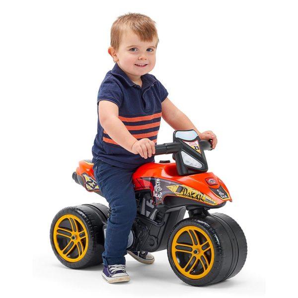 Child playing with Dakar 506D Motorcycle Balance Bike