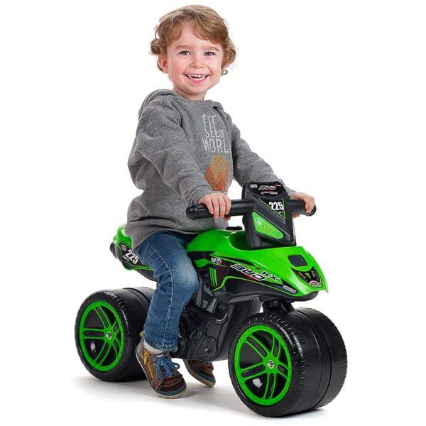 Niño jugando con Moto Correpasillos Kawasaki Bud Racing 502KX