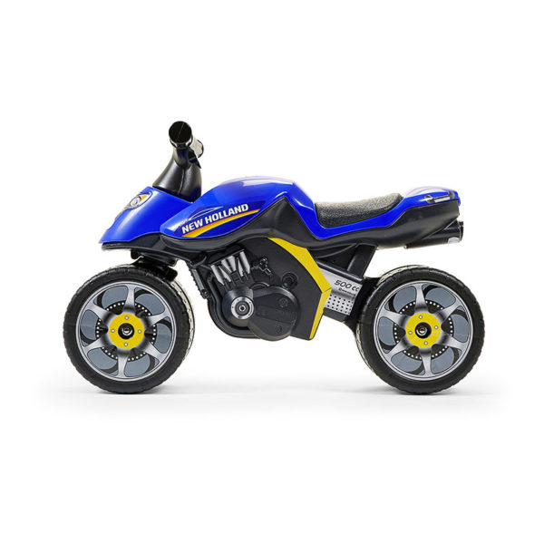 New Holland 422 Motorcycle Balance Bike profile view