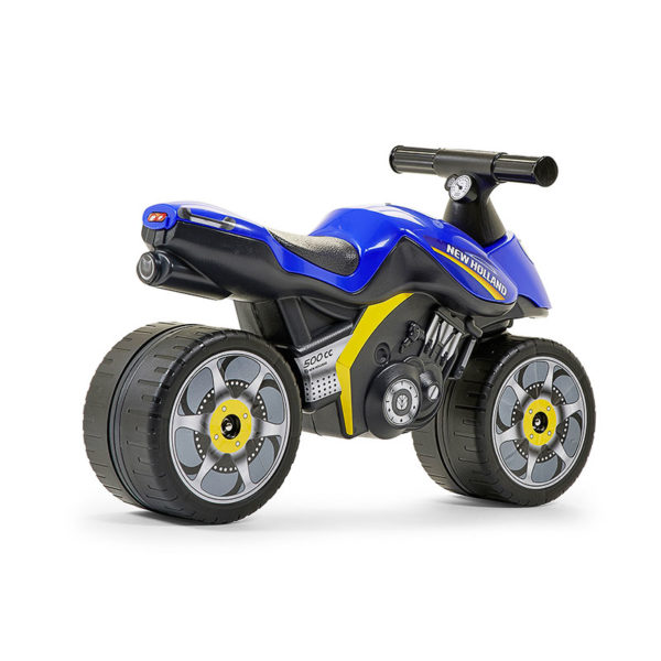 New Holland 422 Motorcycle Balance Bike behind view
