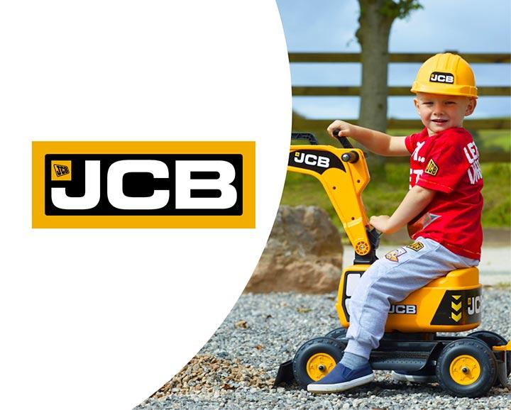 jouet roulant pour enfant de la licence JCB