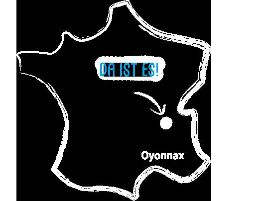 Carte de France qui indique Oyonnax