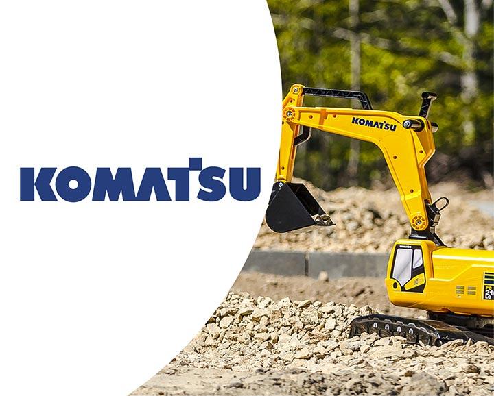 jouet roulant pour enfant de la licence Komatsu