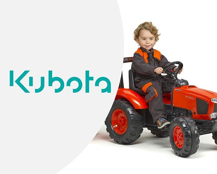 jouet roulant pour enfant de la licence Kubota
