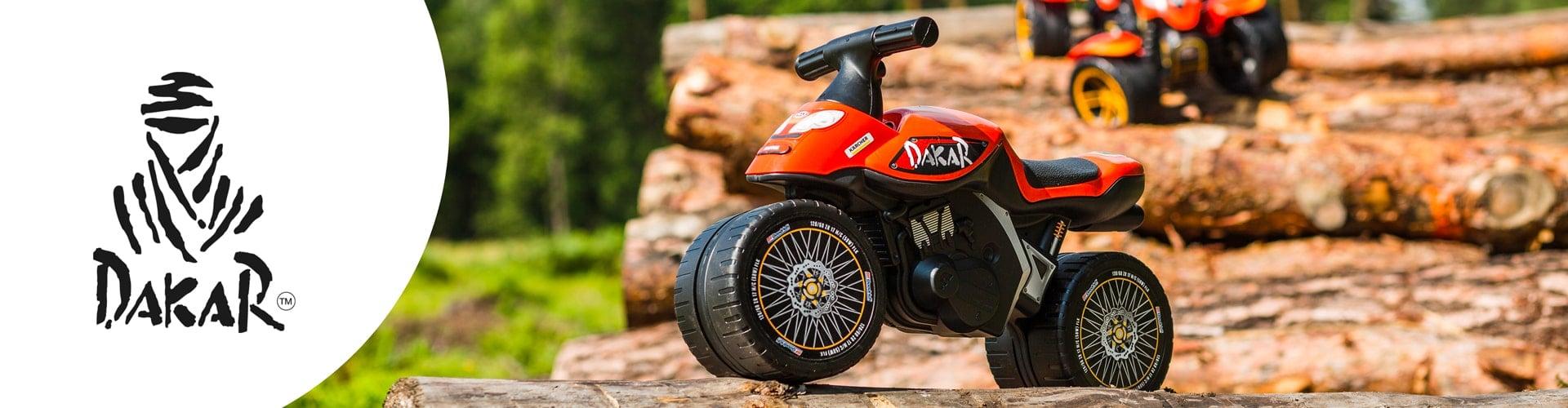 jouet roulant pour enfant de la licence Dakar