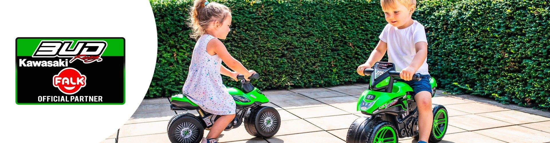 jouet roulant pour enfant de la licence Kawazaki Bud Racing
