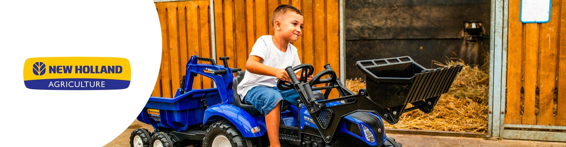 jouet roulant pour enfant de la licence New Holland