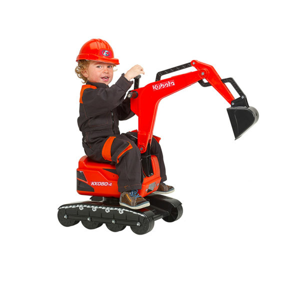 Child playing with Kubota backhoe 102