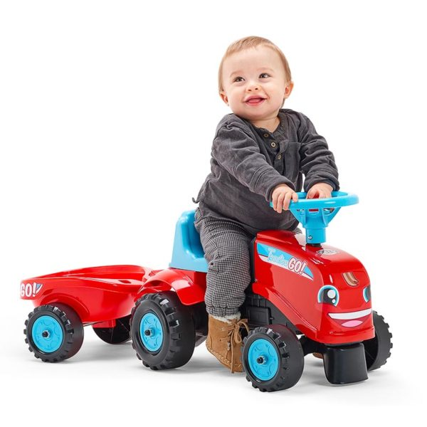 Child playing with ride-on Tractor Go! 200B