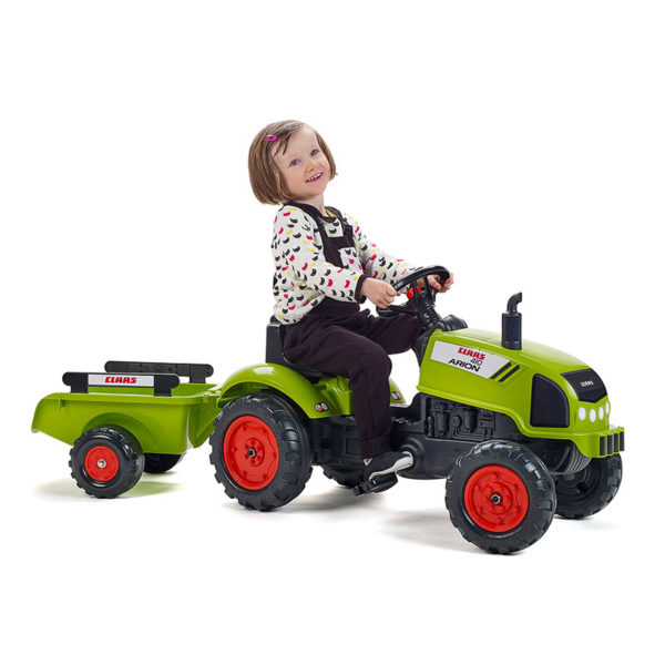 Child playing with Claas 2041C Pedal tractor