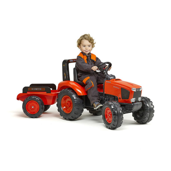 Child playing with Kubota 2060AB pedal tractor