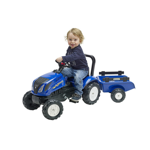 Child playing with New Holland 3080AB Pedal tractor