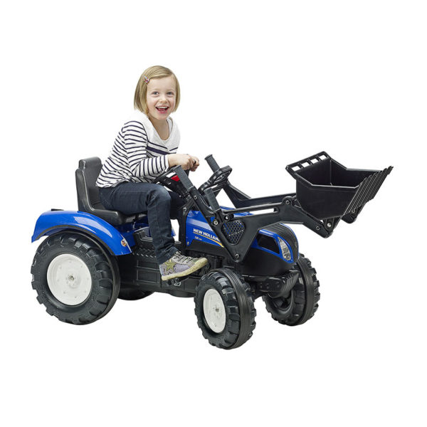 Child playing with New Holland 3092D Pedal Backhoe Loader
