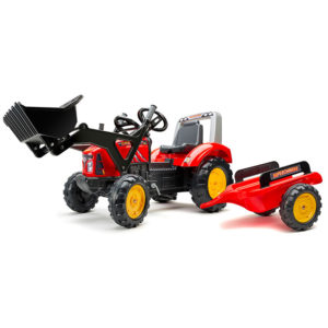 Supercharger pedal tractor with front loader and trailer 2020M