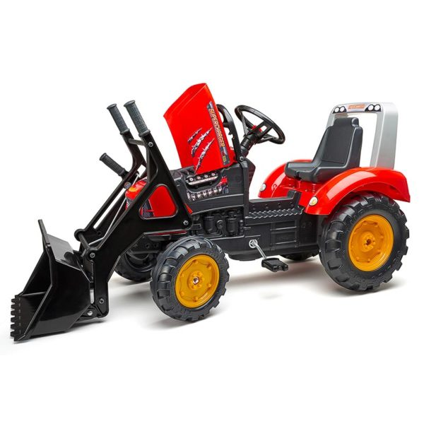 Supercharger pedal tractor with front loader and trailer 2020M opening hood