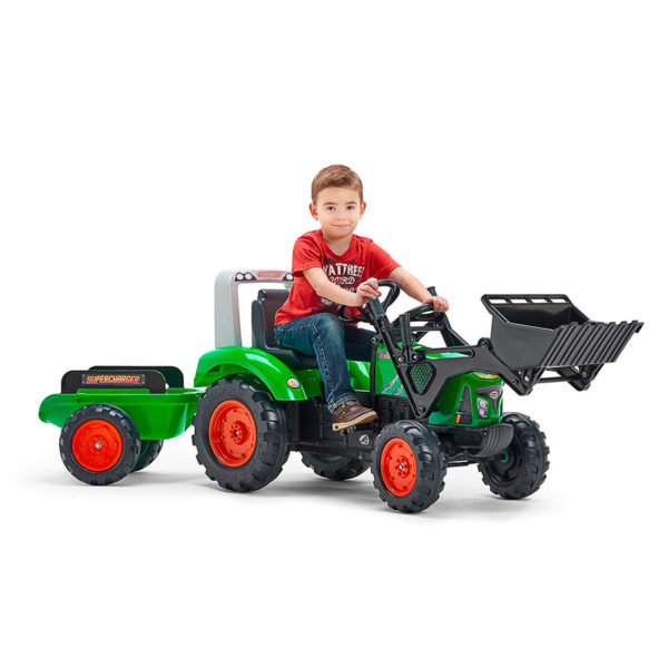 Child playing with Supercharger Pedal Backhoe 2021M