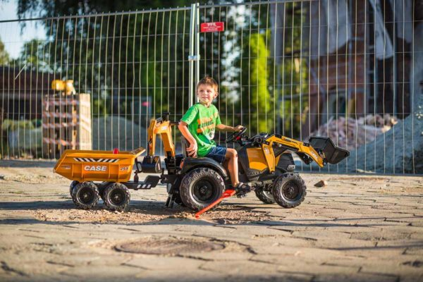 Child Playing With Backhoe Case Construction 997W Outdoors
