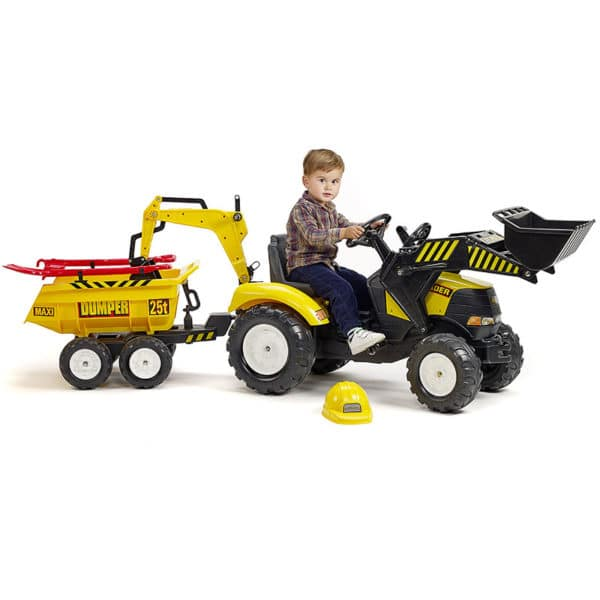 Child playing with Power Backhoe Loader 1000WH