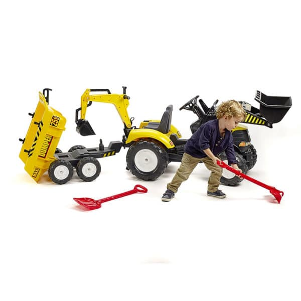 Little boy playing with Power Backhoe Loader 1000WH