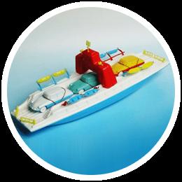 bateau en plastique